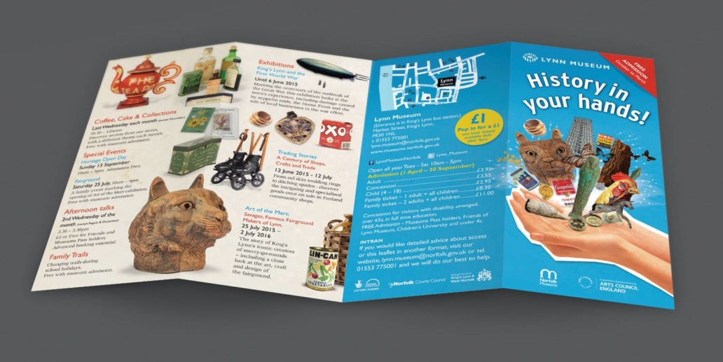 Kings Lynn museum DL 8 page brochure