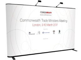 Commonwealth simple banner stand design