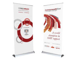 Commonwealth banner stand designs