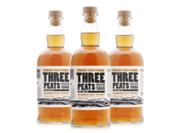Three Peats Whisky label design