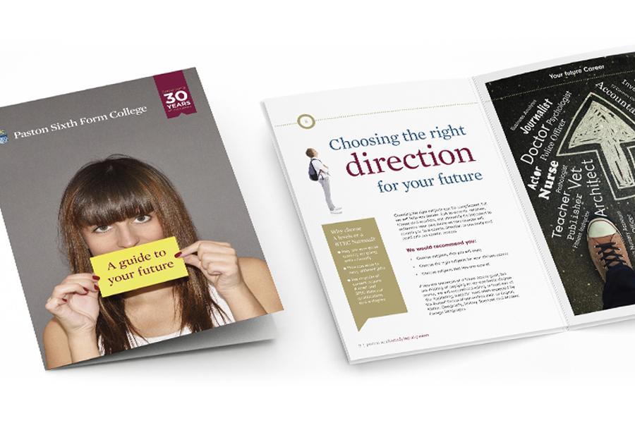 Paston A5 booklet cover design