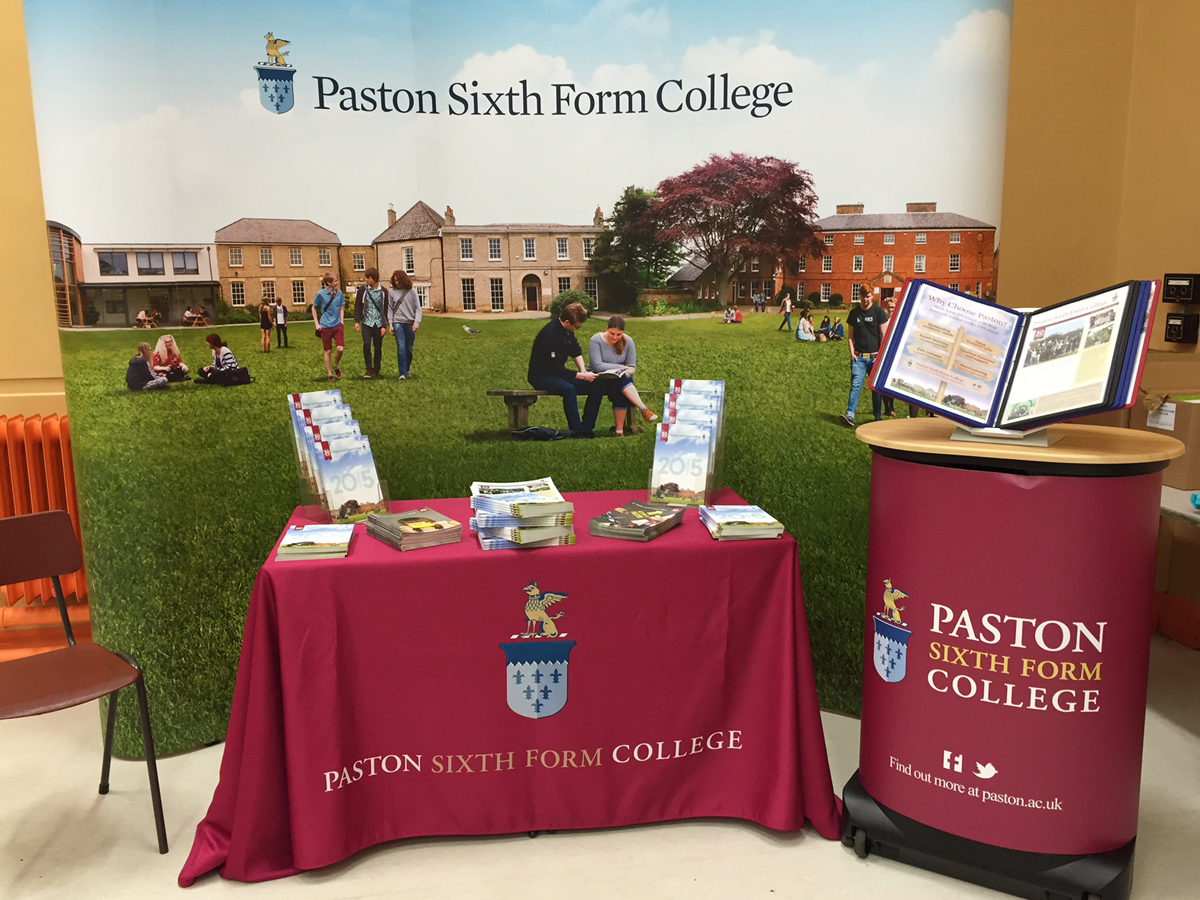 Paston College banner stand