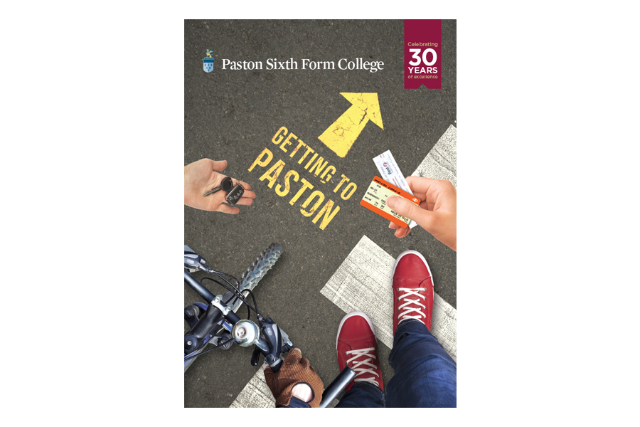 Paston Sixth Form College A5 booklet design