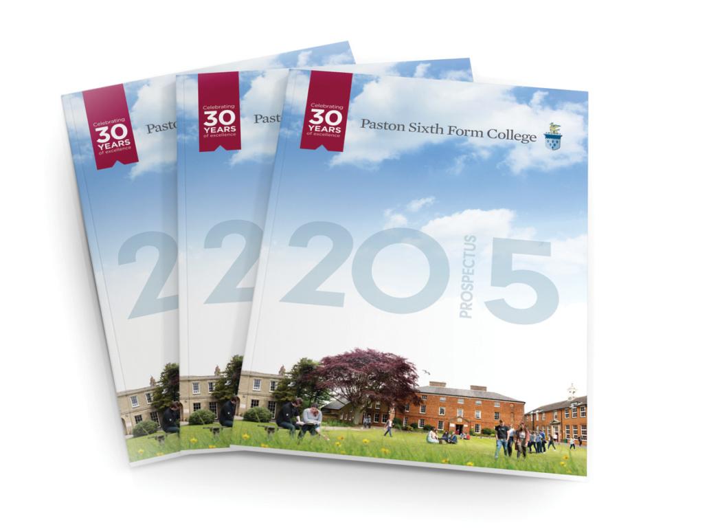 Paston Sixth Form College Prospectus Cover