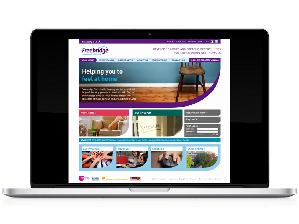 Freebridge website design