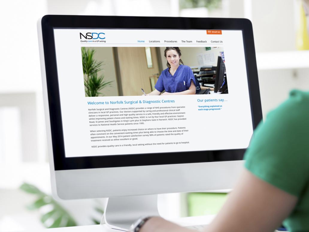 NSDC website design by studio spark