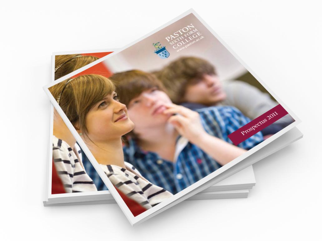 Paston Sixth Form College Prospectus cover design