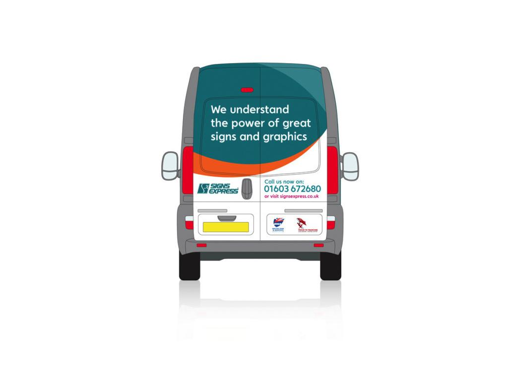 Signs Express van design back